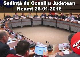 Ședință a Consiliului Județean Neamț 28-01-2016